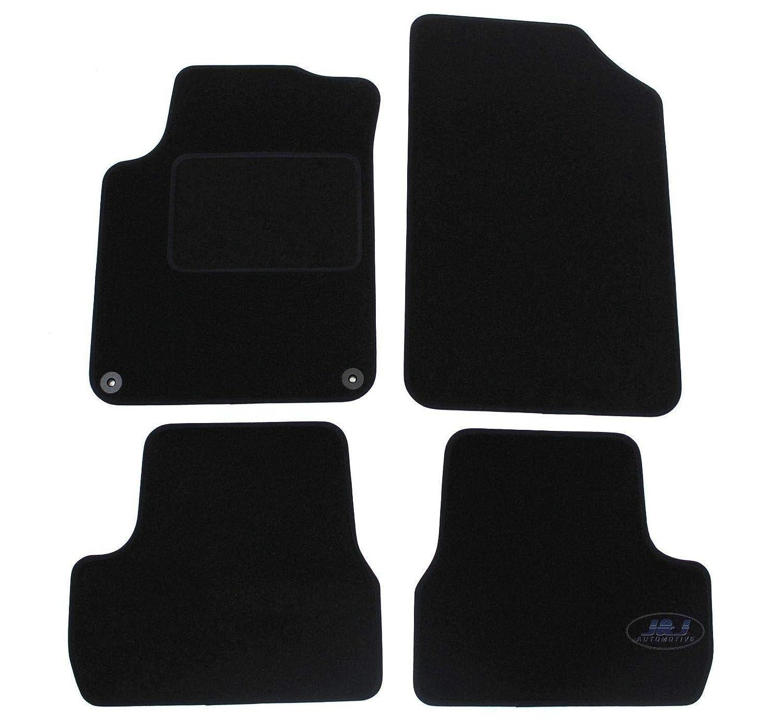 J/&J AUTOMOTIVE Tapis de Sol Noir Velours Compatible avec Citroen C3 C-3 II 2009-2015 4 pcs