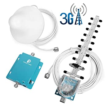 Proutone Mini-W-CDMA Teléfono Móvil UMTS 2100MHz Señal de Amplificador de Señal 3g Repetidor de Antena Yagi + Antena + Techo: Amazon.es: Electrónica