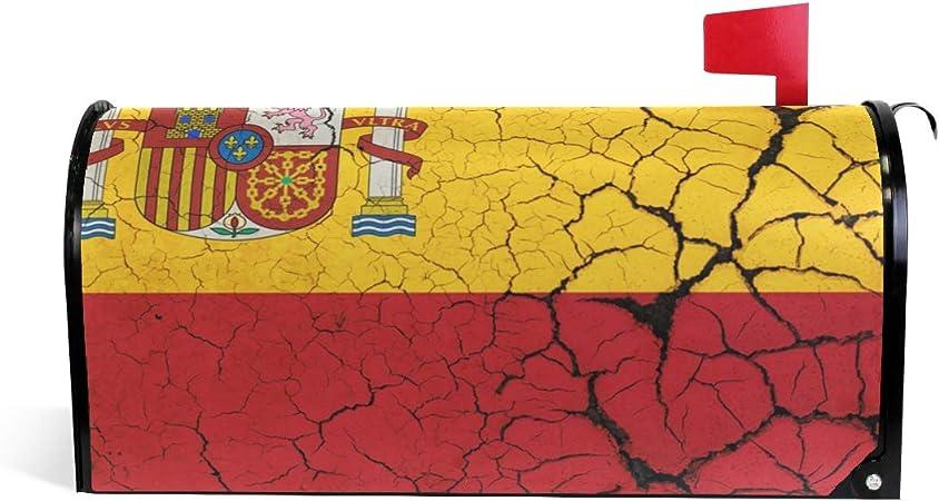 Bandera de España con emblema para buzón de correo magnético para buzón de correo, caja de correos de 25.4 pulgadas de largo x 20.8 pulgadas de ancho, multicolor: Amazon.es: Bricolaje y herramientas