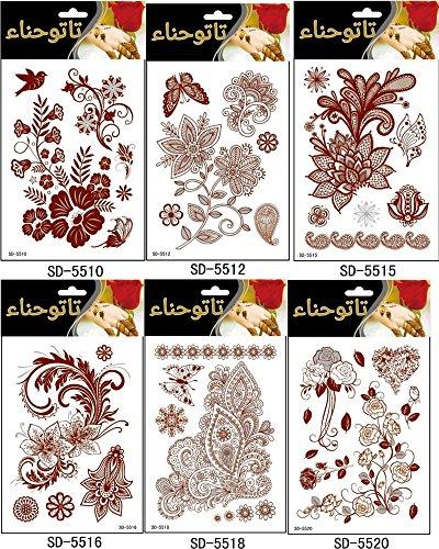 adecco-llc-6pc-fashion-flash-waterproof-tattoo-women-red-ink-henna-jewel-sexy-lace-flower-pendant-we