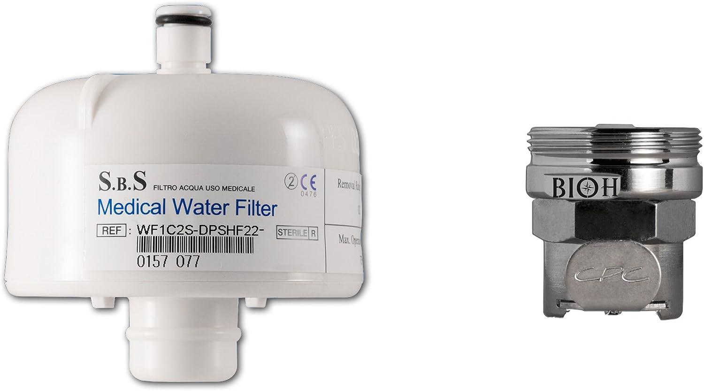 Filtro Terminal anti Legionella con racor para grifo 24 mm Rosca ...