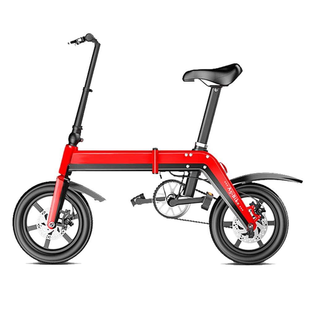ミニ折りたたみ電動自転車、大人旅行世代の運転、スマートAPP管理36Vリチウム電気自動車 赤