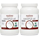 Nutiva Organic Coconut Oil, Virgin, 15 Ounce (Pack of 2)