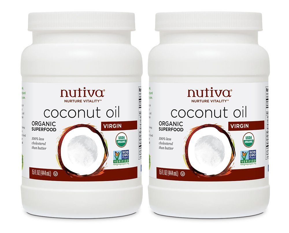 Nutiva Organic Coconut Oil, Virgin, 15 Ounce (Pack of 2)
