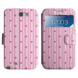 LEOCASE Corazones Verticales Funda Carcasa Cuero Tapa Case Para Samsung Galaxy Note 2 N7100 No.1000336