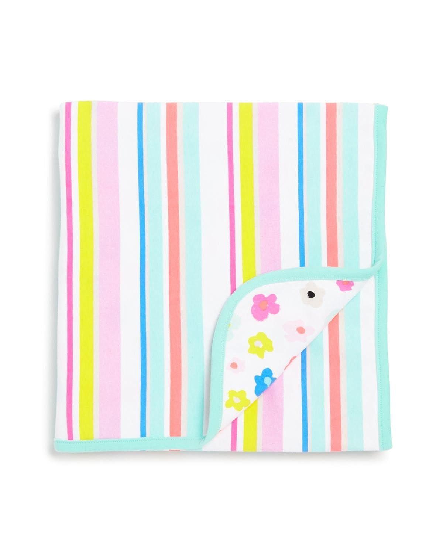 KESS InHouse Holly Helgeson Mod Flower Burst White Multicolor Fleece Baby Blanket 40 x 30