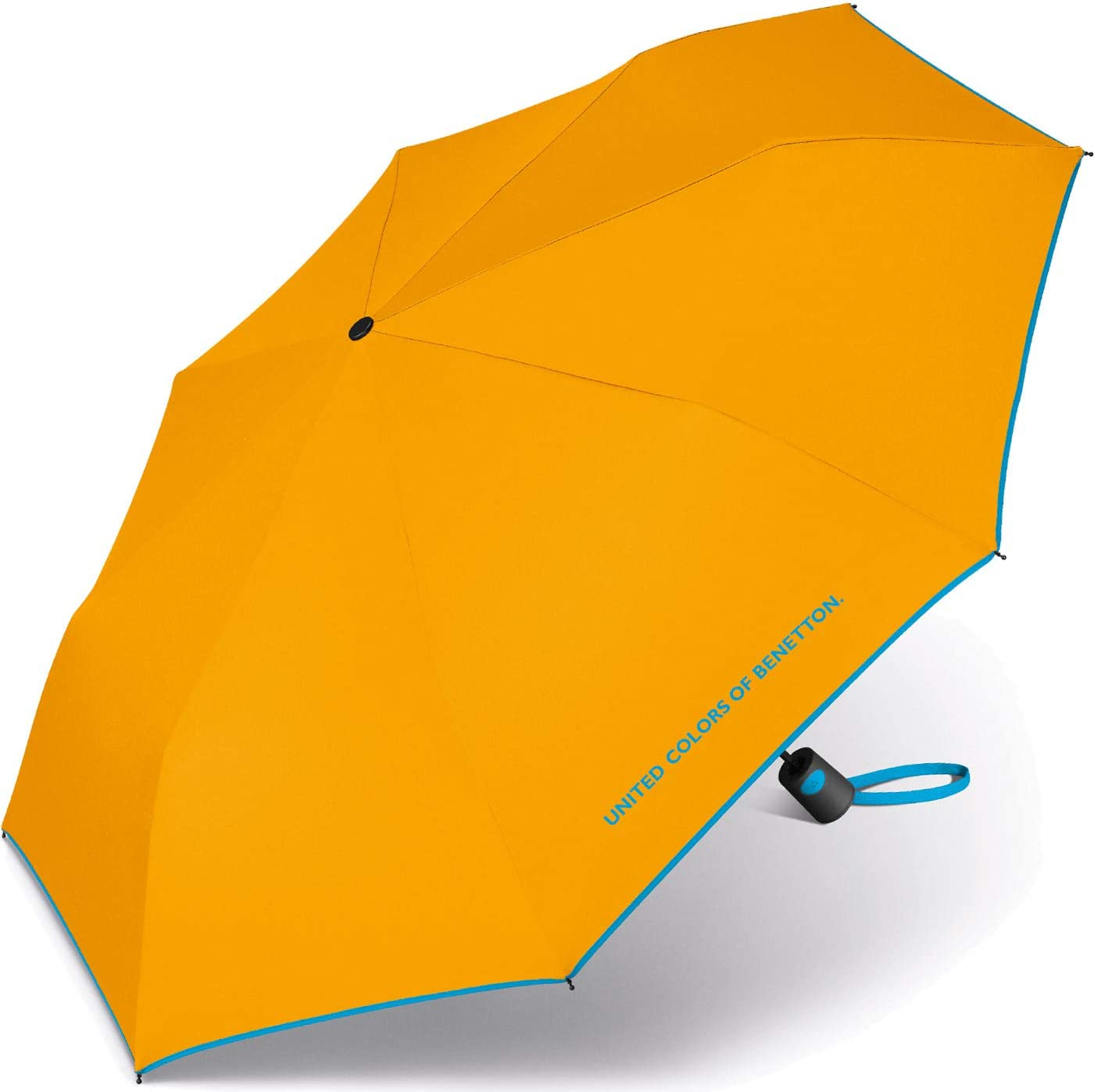 8 tiges de 95 cm de diam/ètre. Parapluie Mini Femme Automatique United Colors of Benetton Jaune