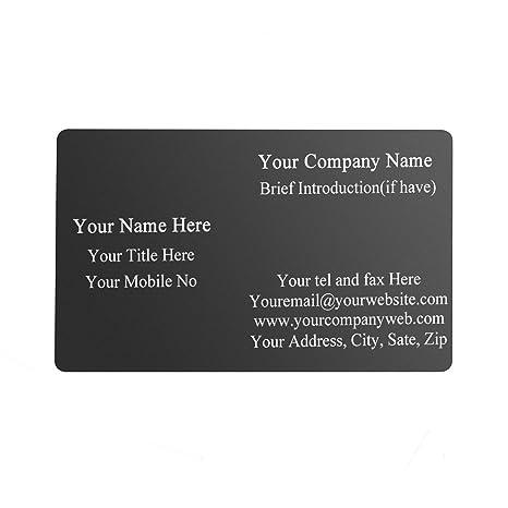 Amazon.com: Personalized Master - 100 tarjetas de visita de ...