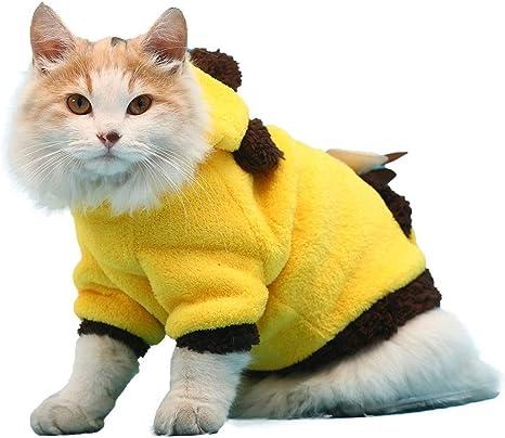 XL- Suéteres de Mascotas para Gatos Ropa de Felpa de Coral, Perros pequeños Gatito Ropa para Hombres y Mujeres, Estiramiento Alto, Suave y cálido (Color : Amarillo, Tamaño : L): Amazon.es: Productos