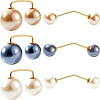 18 Pieces Artificial Pearl Brooch Pins Faux Pearl Brooch Anti-Exposure Neckline Safety Pin Sweater Shawl Pins for Women…
