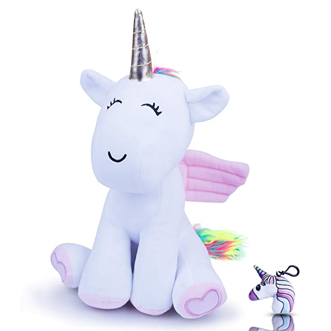 Amazon.com: Wemi Rainbow Unicornio peluche de animal de 12.0 ...