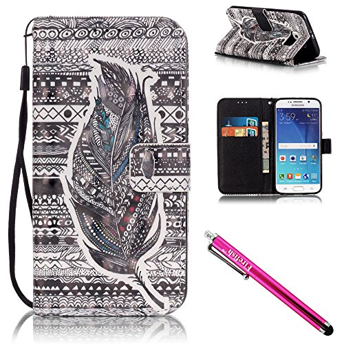 [Galaxy S6 Case, Galaxy S6 Wallet Case, Firefish [Kickstand] [Shock Absorbent] Double Protective Case Flip Folio Slim Magnetic Cover with Wrist Strap for Samsung Galaxy] (Kids Natural Leopard Costumes)