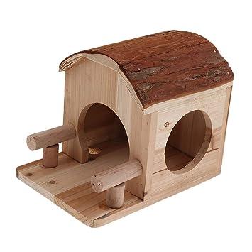 FLAMEER Cama de Nido Casa Mascota Ardilla Durmiendo Centro de Entretenimiento - Casa pequeña: Amazon.es: Productos para mascotas