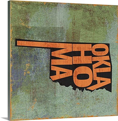 greatBIGcanvas Gallery-Wrapped Canvas entitled Oklahoma by Art Licensing Studio 24''x24'' by greatBIGcanvas