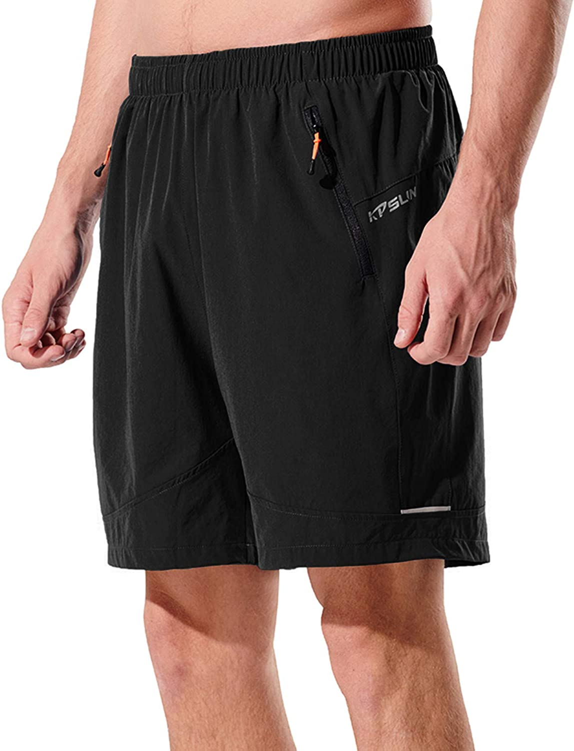 KPSUN Mens 7 Inch Running Shorts Lightweight Quick Dry Athletic Shorts for Workout Gym Training with Zipper Pockets
