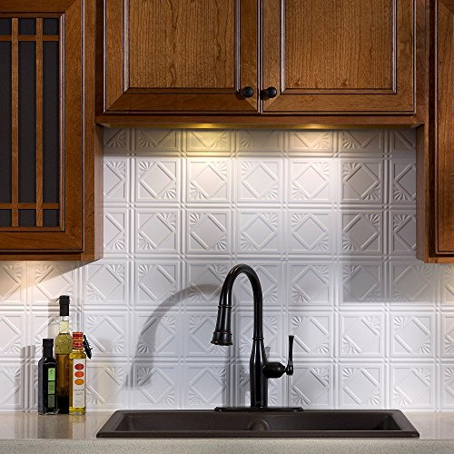 Matte Copper Backsplash (Fasade Easy Installation Traditional 4 Matte White Backsplash Panel (18
