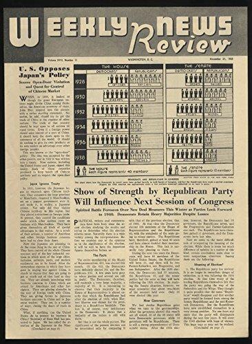WEEKLY NEWS REVIEW school paper 11/21 1938 New Deal; 1st Volkswagen