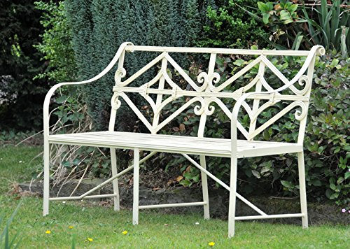 Black Country Metal Works Cradley Deluxe Iron Bench (3 Seater)