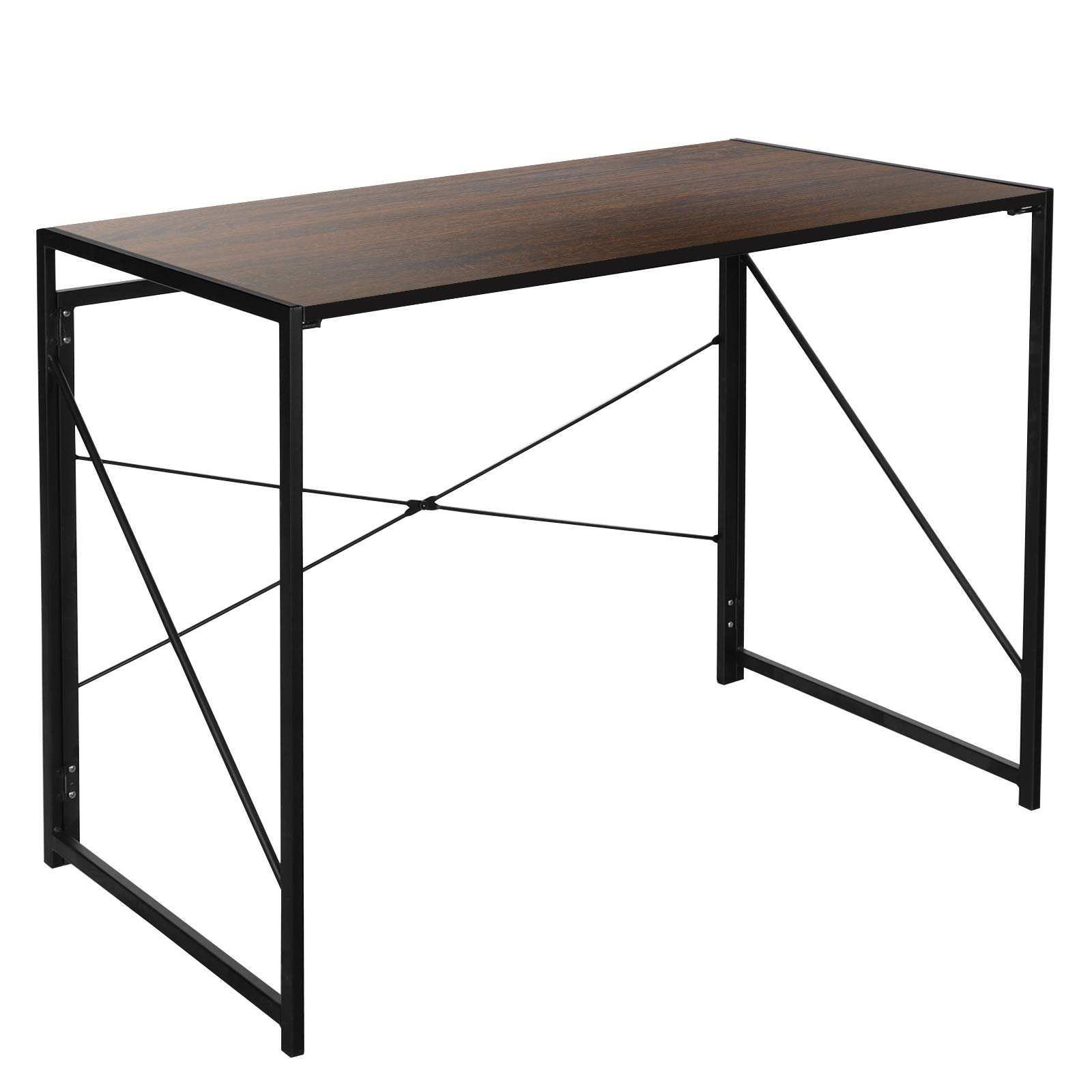ZENY Foldable Computer Desk PC Laptop Table Workstation Writing Table Home Office Desk,Study Table Student Desk