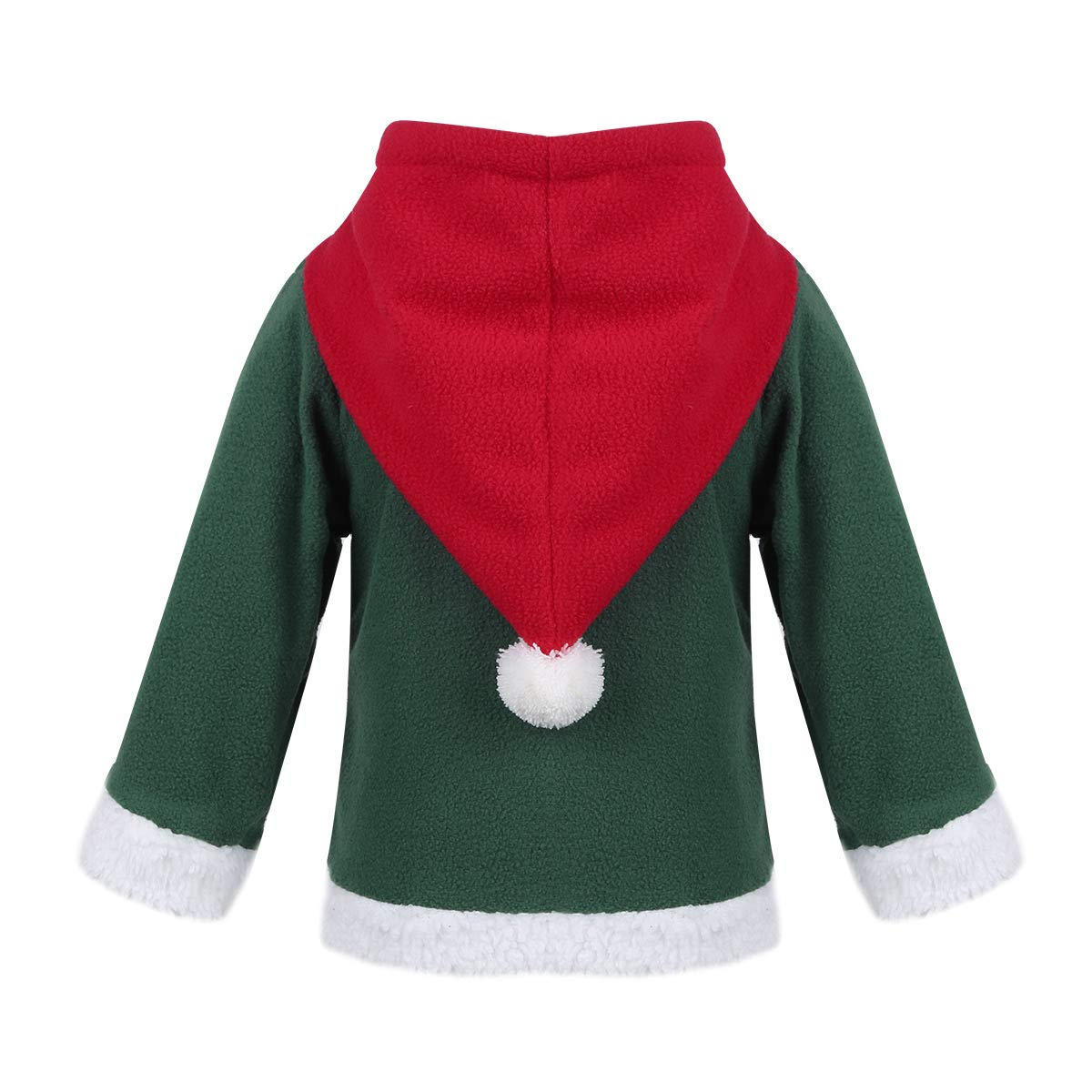 Amazon.com: dPois Baby Boys Girls Christmas Santa Claus Elf Fancy Hooded Sweatshirt Long Sleeve Winter Jacket Coat: Clothing
