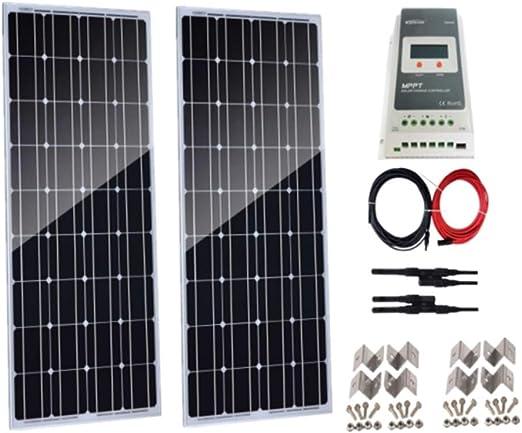 18 V panneau solaire 200 W monocristallin caravane bateau camping Batterie Power Charge