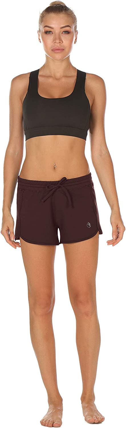 icyzone Athletic Lounge Shorts for Women - Running Jogging Workout Cotton Sweat Shorts: Clothing