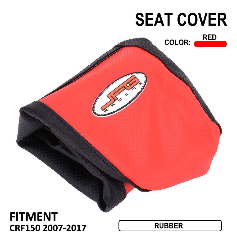 Colore Rosso YSMOTO Coprisedile Antiscivolo in Gomma Morbida per Honda CRF150R 07-17 2007-2017 Dirt Pit Bike off Road
