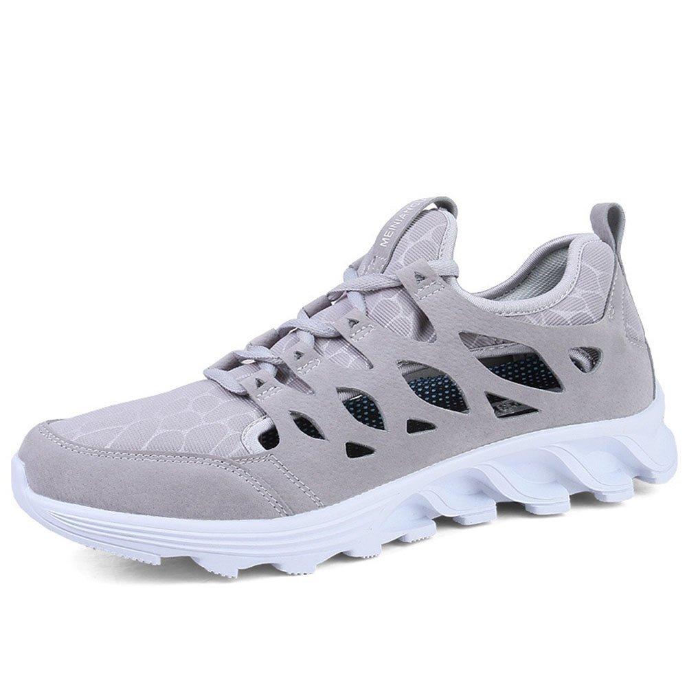 FLYMD Running Shoes Zapatos Deportivos de Primavera y Verano, Zapatos Casuales Transpirables, Zapatos Corrientes para Hombres (24.5-27.0cm) Sneakers for Men (Color : Gris, tamaño : 42 EU) 42 EU|Gris