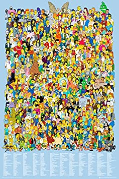Laminated The Simpsons Cast 2012 The Simpsons Poster 61x91.5cm