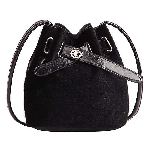67336bbabc76 WILLTOO Drawstring Handbag Bucket Bag Leopard Print PU Crossbody Bag  Shoulder Bag for Women (Black