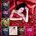 Satin 6 Pcs Silky Sexy Bedding Set Queen Duvet Cover Fitted Sheet & 4x Pillowcases 8 Colors