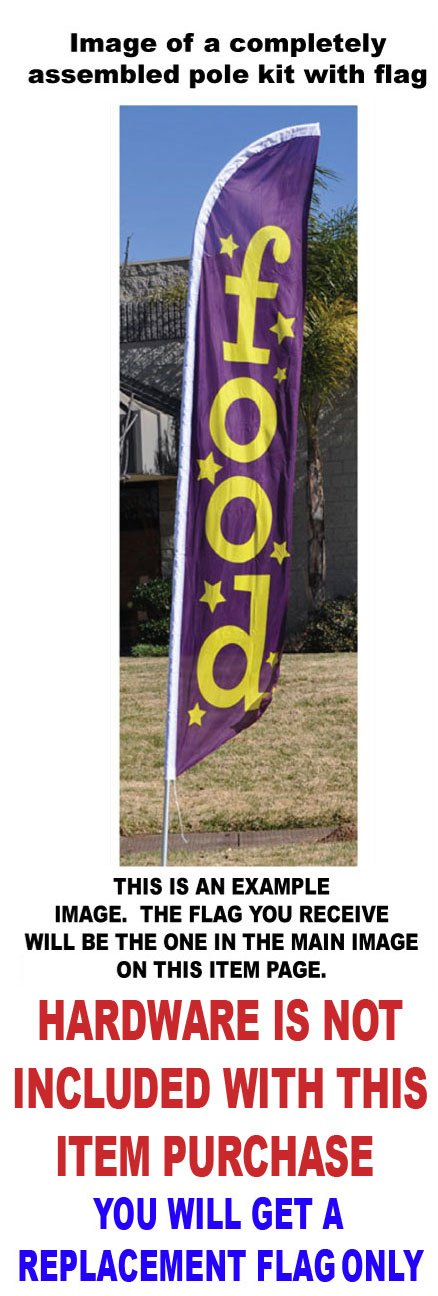 Replacement Flag Only Dinner Special Feather Banner Swooper Flag