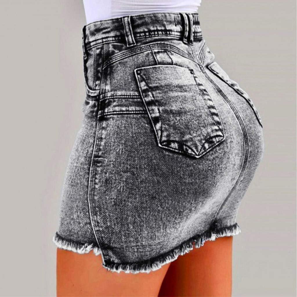 LISTHA Secy Denim Mini Skirts Women Summer Jeans Pockets Slim Tassel Short Skirt