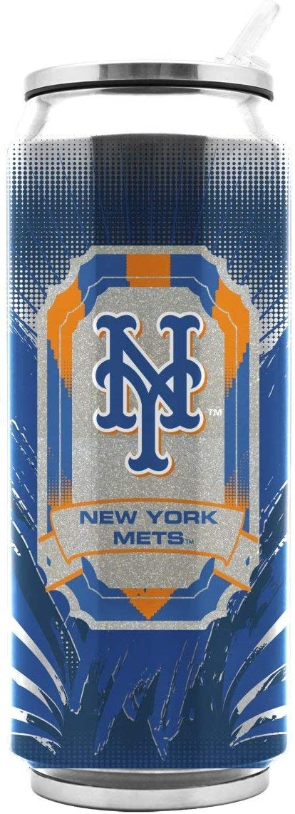 Duck House MLB New York Mets SS Thermocan, Large/16.9 oz, Multicolor