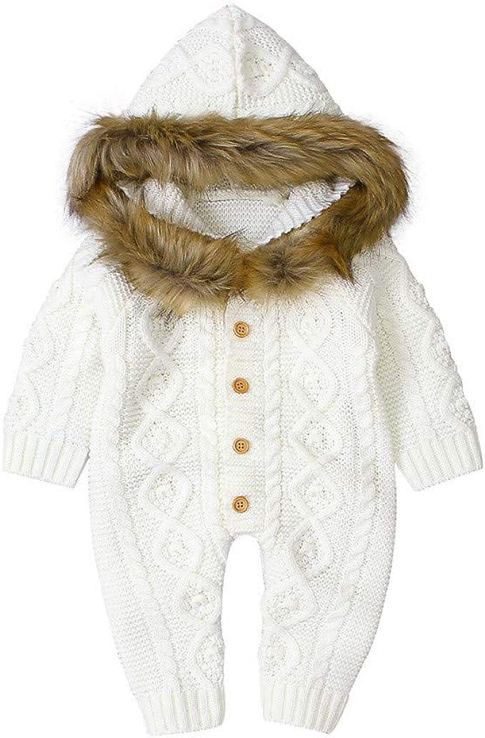 Armilum Newborn Baby Girls /& Boys Fall//Winter Plush Snowsuit Romper Infant Faux Fur Cute Animal Hooded Unisex Jumpsuits Outfit Warm Down Jacket One Piece Bodysuit