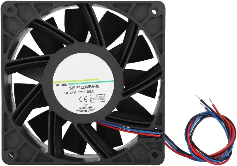 High Performance//4200rpm Wind Speed Quiet Heat Dissipation Cooling Fan,Work for Long Time DC24V 12CM Industrial Chassis Cooler