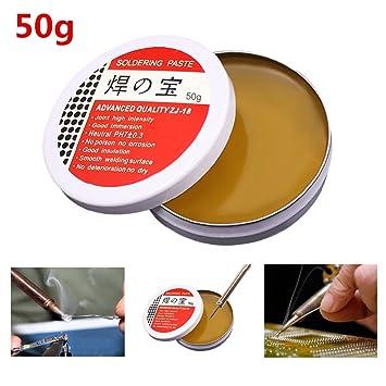 DroneAcc 50g Tip Tinner, Pasta de estaño Flux de Soldadura, Mecha de Soldadura, sin formulación Limpia: Amazon.es: Electrónica
