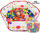 Click N' Play CNP0005D Ball Pit Playpen Playset, Includes 400 BPA Free, Crush Proof Play Balls