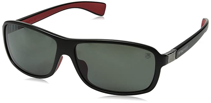 Amazon.com: Tag Heuer Legend 9302 Gafas de sol 102 Negro ...