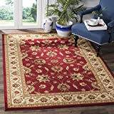 Safavieh Lyndhurst Collection LNH553-4012 Traditional Floral Red and Ivory Area Rug (6'7' x 9'6')