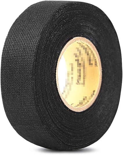 peiujin franela cinta aislante cinta adhesiva Cable cinta banda coche (tejido algodón negro: Amazon.es: Bricolaje y herramientas