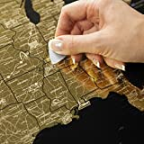 detailed map of usa - Detailed Scratch Off USA Travel Map (16x24in) United States Map Gift – Includes Rewritable Marker – Made of Flexible Plastic – 1DEA.me