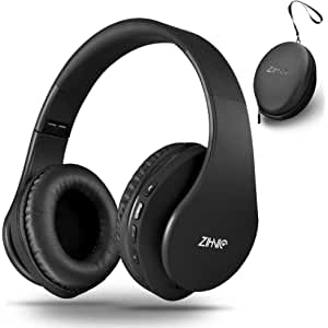 Zihnic Auriculares Bluetooth Inalambricos, Cableados con Micrófono Plegables Estéreo Cascos
