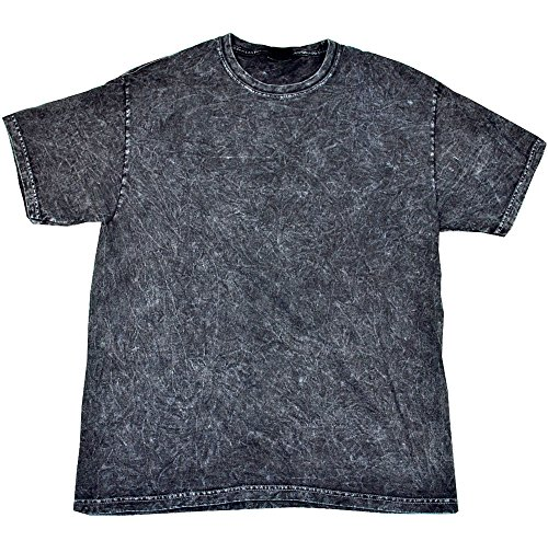 Gildan Vintage Mineral Wash Black T-Shirt Adult S - 3XL Short Sleeve 100% Cotton (Acid Wash Tee)