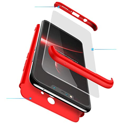 BESTCASESKIN Funda Samsung Galaxy S9 Plus, Carcasa Móvil de Protección de 360° 3 en 1 Desmontable con HD Protector de Pantalla Carcasa Caso Case Cover ...