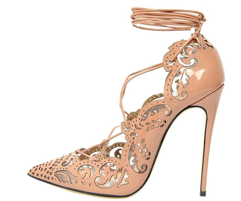Kitzen New Womens Block Mid High Heel Chunky Damen Straps Ausschnitt Sandalen Schuhe Color