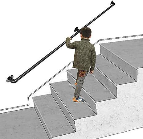 Barandillas para escaleras, barandilla de escalera negra mate Soporte de barandilla de seguridad Barandilla de jardín de infantes - Montaje en pared para discapacitados, manijas de baño, ancianos: Amazon.es: Hogar