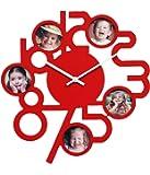 Basement Bazaar Glowing MDF Wall Clock (38cm x 38cm,Red)