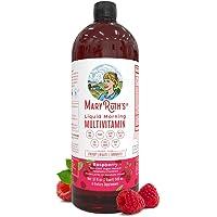 Morning Liquid Vitamins by MaryRuth's (Raspberry) Vegan Multivitamin A B C D3 E Trace Minerals & Amino Acids for Energy…