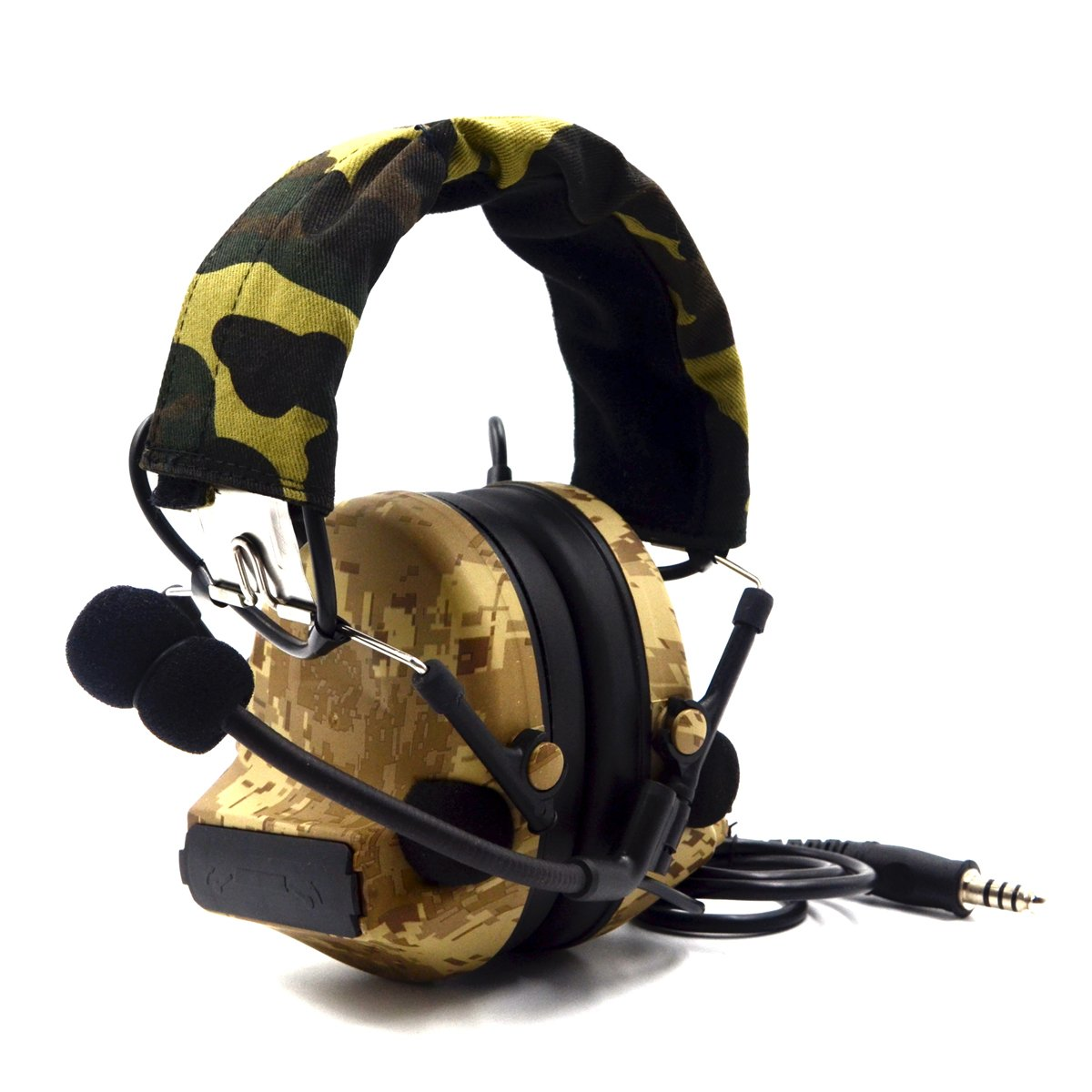Electronic Earmuff Sport Hearing Protector for Hunting & Shooting, Sand Color by Dolphin (Image #2)